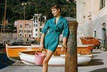 La Dolce Vita / Italy in the 60s and 70s. Sofia Loren, Claudia Cardinale, Marella Agnelli, Virna Lisi, Marcello Mastroianni.  La Dolce Vita, Bella Italia, Italian lifestyle