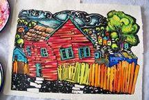 Candice Ashment Studio - Watercolor Collagraph Prints
