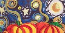 FALL & HALLOWEEN ART for kids