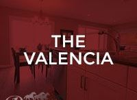 The Valencia / Our Valencia floor model; 1366 square feet, single home with front attached garage, 2 storey, 3 bedrooms
