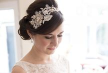 Vintage lace hair pieces