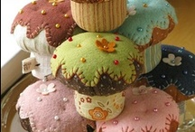 Pin cushions / Made of fiber or whatever / by Melanie D