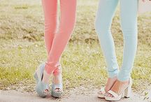 Cute pastel color clothes