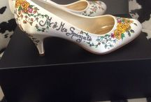 hand-painted shoes by Beretun Designs, Brighton / Hand painted, shoe art, shoe makeover, wedding shoes, drawn shoes and clothing available from our Brighton Boutique and our Etsy shop https://www.etsy.com/uk/shop/BeretunDesigns