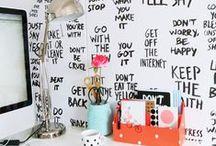 for decorating the home ∴ / Inspirações para decorar a casa/quarto.