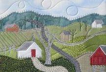 Quilts ... Miniquilts und Karten / by Monika Moser