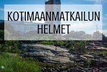 Kotimaanmatkailu - parhaat vinkit ja ideat Suomi-lomaan! / Aina ei tarvitse lähteä merta edemmäs reissuun. Suomi on jumalaisen kaunis maa, jolla on paljon tarjottavaa myös meille suomalaisille. Tämä taulu on vinkkilista jokaiselle kotimaanmatkailua ja suloista Suomea rakastavalle.