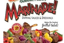 Mouth-watering Marinades! / These aren't your typical marinades, each one has a distinct taste profile that is unique in outstanding taste. Use to marinate chicken, steak, pork, seafood & veggies, or use as a salad dressing. Also great for kabobs!
