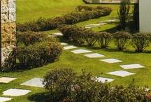 Jardins Externos / Vegetação / Fontes / Paisagismo: tipos e estilos de jardins externos; plantas, arvores... Fontes e Esculturas (ver pasta Arte-Esculturas).