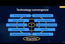 Technological Convergence  / Technological convergence is the process by which existing technologies merge into new forms that bring together different types of media and applications.