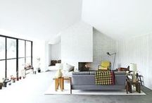 Living Room - White / Living Room in white, colours, colors, white room, white wall, wall furniture