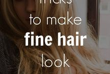 hair styling tips for fine hair / Tips on how to get fine hair to look and feel thicker