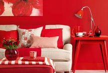 Home in RED / Home decor, colours, vibrant colours