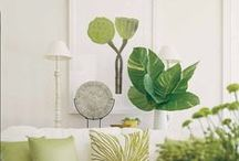 Home in GREEN / Green home, green home decor, home decor, ideas for your home in green, nature