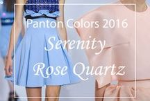 Color(s) of the Year 2016 - Pantone / #RoseQuartz and #Serenity