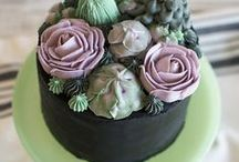 Succulent Baking and Color / Beautiful succulent decorative baking stylings. Recipes that would be great for using natural food coloring. Find Our Natural Plant Based Food Coloring To Use In Your Treats at colorkitchenfoods.com