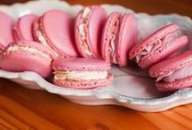 Macarons / naturally colored, no artificial dyes, use colorkitchenfoods.com plant based food colors