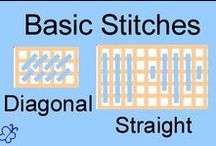 Needlepoint stitches / Tutorials and drawings for stitch making / by Sandy DeBolt