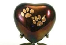Pet Cremation Urns / A collection of some of the pet cremation urns that we provide for purchase. Please contact us for more information @ 216.658.9010 or go to www.DeJohnPetServices.com