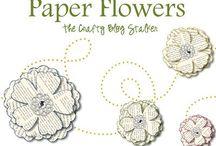 Paper flower tutorials and ideas