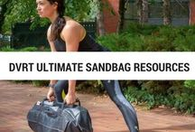 DVRT Ultimate Sandbag Resources / Functional fitness and strength training workout and tips using the DVRT (Dynamic Variable Resistance Training) System and Ultimate Sandbag.