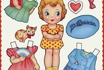 Paper dolls,felt dolls and dolls