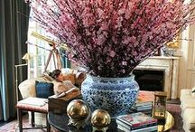 Style File: Flowers & Vases / I love having flowers inside my home. They don't have to be big, expensive, grand-scale arrangements that you see in hotels - just 1 bouquet of spring blooms, or scatter of individual little flower vases, or a single large branch in a beautiful vase..... they bring an instant feel of happiness.