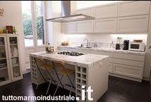 Cucine / Lavorazione marmi, graniti e pietre naturali, Roma. Piani cucina su misura.