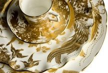 Style File: Gold Tableware /  For luxurious dining there's only one way to indulge:  classic elegant gold tableware.
