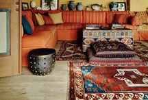 Moorish Decor: Carpets / The easiest way to add an exotic flavour to your home is to add a classic piece of oriental rug or carpet to a room.