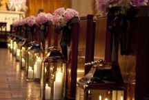 Pew decorations / Ideas to decorate the end of pews for a wedding ceremony.