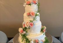 Wedding cakes at Vesica Piscis Chapel / Amazing wedding cakes provided by Icing on the Top. Please keep in mind some cakes posted here have upgraded with additional tiers and decorations. Please call Icing on the Top with any questions.