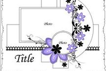 Scrapbooking Templates / For inspiration on scrapbooking layout ideas