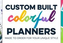 Limelife Planners / Find planner peace with colorful, customizable planners handmade just for you! With a variety of sizes, styles, layouts, and binding options, you're sure to find the perfect planner for your needs. Keep track of your schedule with a planner as unique as you are!