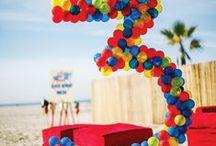 Balloon party art