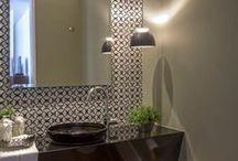 Inspiração: lavabo e banheiros / O Banheiro deixou de ser o patinho feio da casa. Agora ganha ares e cores de protagonista. Inspire-se e transforme sua casa :)