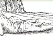 Desenhos / Desenhando como calha e onde calha