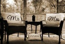 Mr & Mrs Hand Made Pillows / Mr & Mrs Wedding Pillows With Anniversary Date Made by Decorative Decor Designs