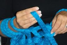 arm-finger knitting