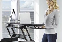 Standing Desk / Standing desk ideas with adjustable heights and sit stand workstation options.