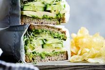 Sandwiches and Wraps. / Sandwiches and wraps for a quick, healthy lunch.
