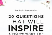 Blog Ideas & Topics / Ideas and topics for blogs