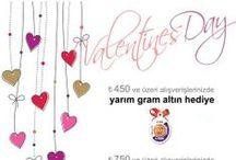 Sevgililer günü / Valentine's day / Gazete, dergi, poster vb.Sevgililer günü reklam çalışmaları...