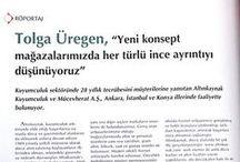Ropörtaj / İnterview / Gazete ve dergilerde yer alan haber ve basın bültenleri...