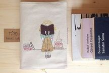 Bebekli Kedi - Handmade / Book covers, pencil cases, amigurumi vs.