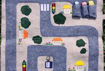 Sewing - Playmats and Playthings / Portable Playmats - knitting and sewing