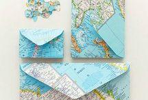 DIY | mit Landkarten basteln