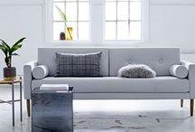 Canapé - Sofa sur MonDesign.com / Le canapé est la pièce centrale du salon. Le style de votre banquette, sa taille, sa couleur ou ses matériaux vont avoir de l'importance pour votre décoration. Plutôt rétro ou moderne, en velours ou en cuir ... Voilà des idées pour un salon design, moderne et qui vous ressemble.
