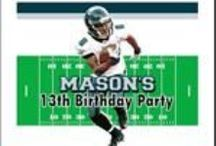 NFL Football Themed Parties / Party invitations and other party supplies for a NFL Football Themed Party.