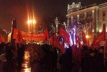 """Красный Марш 7 ноября 2014 года / http://octbol.wordpress.com/ Межпартийная Группа """"Октябрь-большевики"""""""